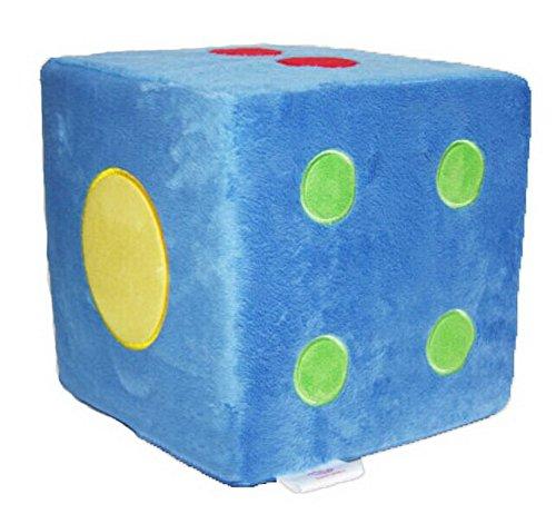PANDA SUPERSTORE Sponge Boson Oversized Dice Creative Plush Pillow - Game Activities Way-Blue