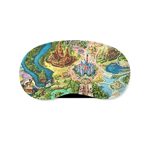 Disneyland Colorful Map Sleeping Mask Travel