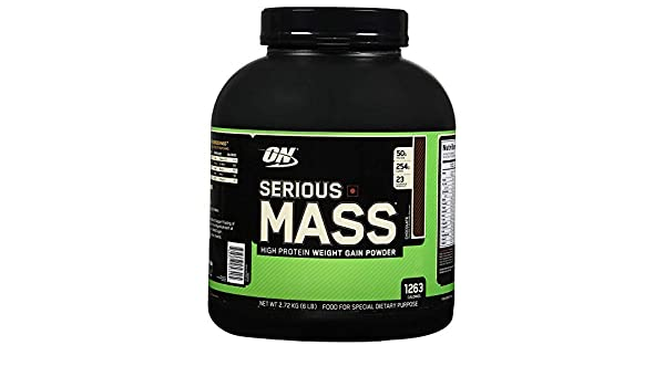 Optimum Nutrition SERIOUS MASS - chocolate - 2,724kg: Amazon.es: Alimentación y bebidas
