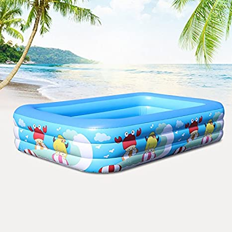 Cyhione Bañera inflable Elegante piscina infantil hinchable ...