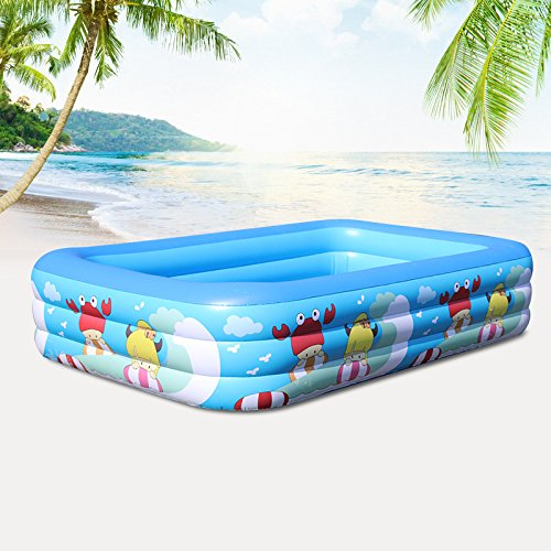 Cyhione Bañera inflable Elegante piscina infantil hinchable pvc ...