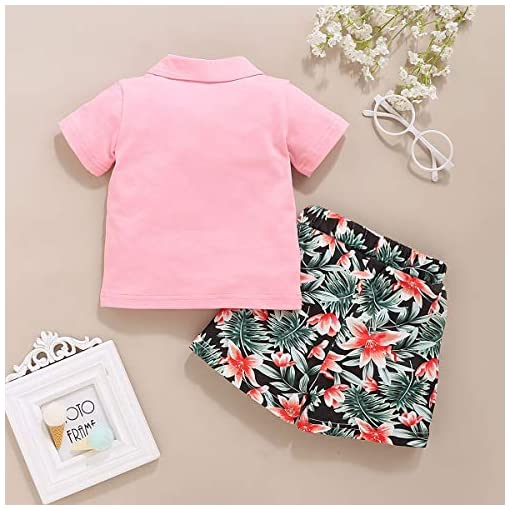 Toddler-Baby-Girls-Summer-Clothes-Polo-Shirt-Solid-Short-Sleeve-Top-and-Floral-Shorts-2Pcs-Outfit-1-4T
