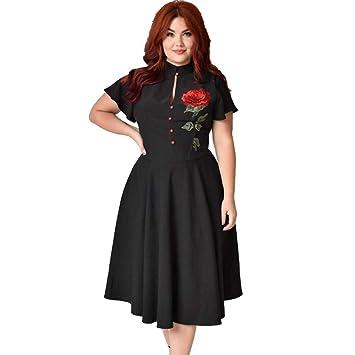 TDPYT Un Gran Vestido/Vestido Negro Negro 3XL