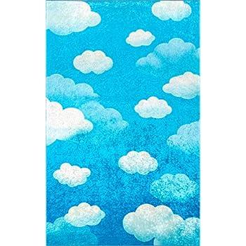 Amazon Com Nuloom Sachiko Cloudy Kids Rug 7 6 Quot X 9 6