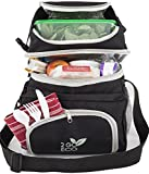 2GOECO Insulated Lunch Bag For Men or Women   Soft Sided Cooler Lunch Box For Adults   Large   Black