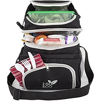 Amazon Com 2goeco Soft Sided Lunch Cooler Insulated