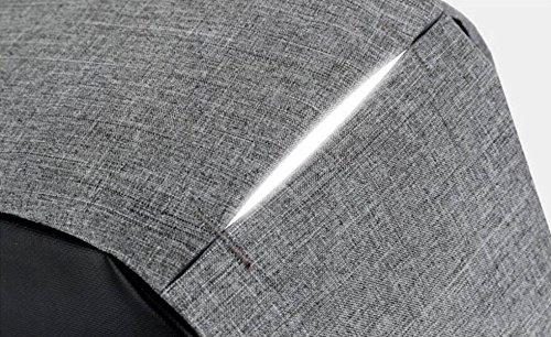 Computadora Mujeres Ocasional Del Hombres Del La El Paño Los Oxford Las De Bolso De Mochila Grey1 Empaquetan Paquete Antirrobo De De Hombro Y La F8tdWnxB