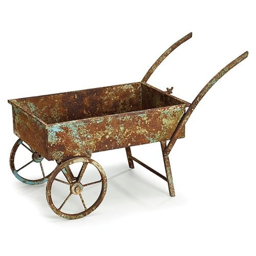 Decorative Metal Wheelbarrow Planter -