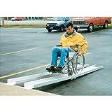IHS D-FAR-120 Fold-A-Way Wheel Chair Ramp, 550 lbs Capacity, 120'' Length, 7-7/8'' Width