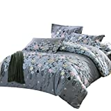uxcell bed sets,Floral Vine Pattern Pillowcase Quilt Cover Bedding Set King Size