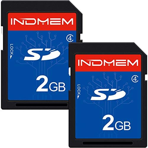 2 Pack SD Card 2GB Class 4 Flash Memory Card 2G SLC Stanard Secure Digital Cards (IN2GBC4SD2P)