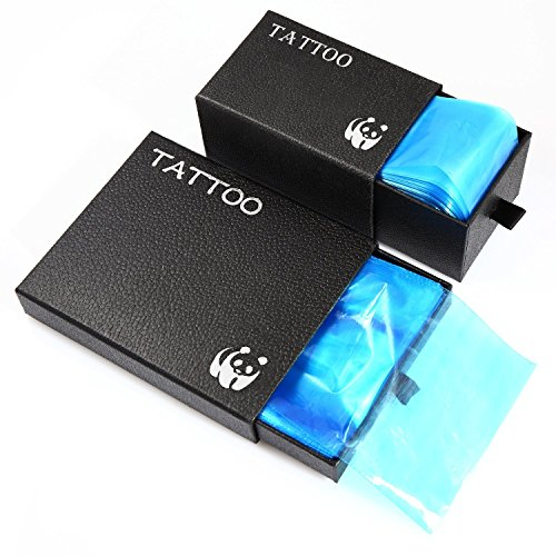 Tattoo Clip Cord Covers Machine Bag Covers Disposable Hygiene Safety 100Pcs Tattoo Clip Cord Sleeves 200Pcs Tattoo Machine Bags For Tattoo Machine Gun Accessories Tattoo Kits Tattoo Supplies (Blue)