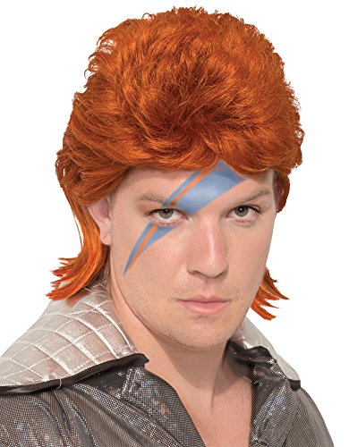 Orange Rock Star Wig -