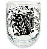 Glas Akkordeon, schönes Geschenk für Akkordeonisten