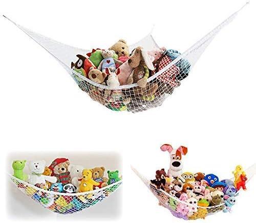 ETCBUYS 2er Pack Jumbo Größe Kinder Spielzeug Hängematte Kuscheltier Kuscheltiere Aufbewahrungshängematte mit Gummibändern (Keine Kuscheltiere
