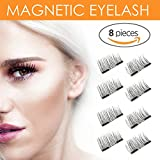 8x Magnetic Eyelashes [No Glue] Premium Quality False Eyelashes Set for Natural Look - Best Fake Lashes Extensions One Two Cosmetics 3D Reusable