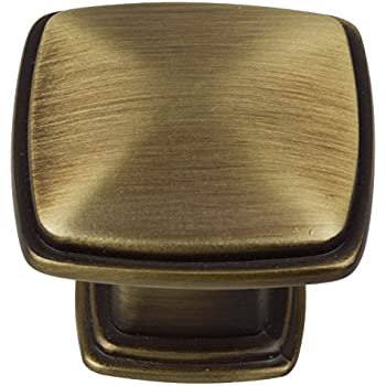81091 ab 10 gliderite antique brass square deco cabinet knob pack of 10 cabinet and. Black Bedroom Furniture Sets. Home Design Ideas