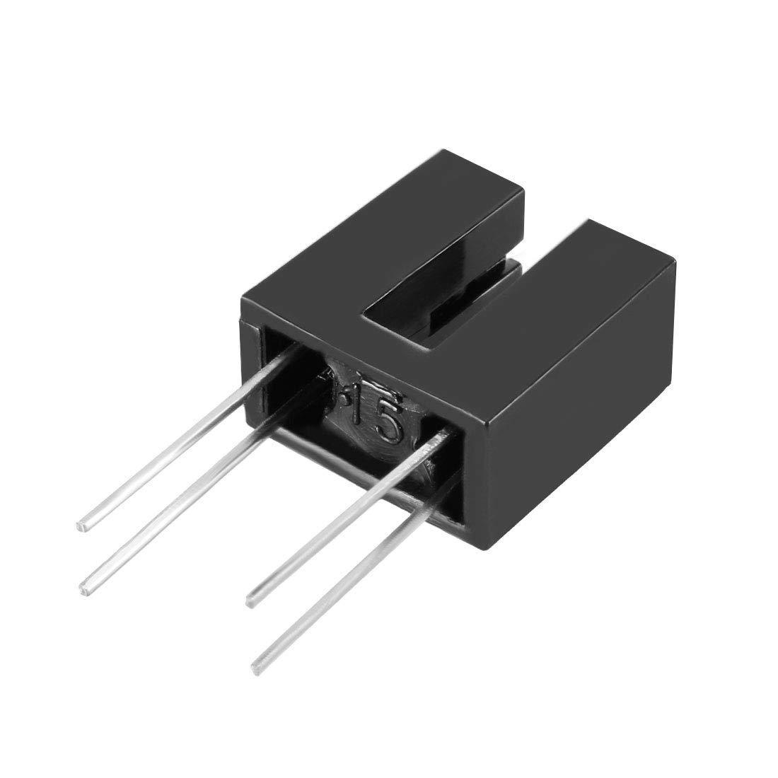 sourcing map 10 Pcs 1//8 Slot PCB Photo Interrupter Slotted Optical Sensor Switch HY860N