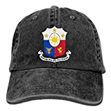 SDQQ6 Coat of Arms of The Philippines Adult Cowboy Hat Baseball Cap Adjustable Athletic Making Latest Hat