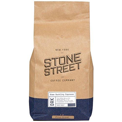 KNEE BUCKLING ESPRESSO Fine Grind Extra Strong Coffee | 5 LB Bulk Bag | Medium Dark Roast | High Caffeine | Ground Fresh | 100% Arabica