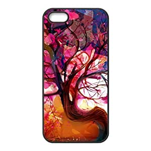 Abstract colorful tree oil painting Phone Case for iphone 6 plus(TPU)
