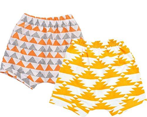 Welen Pack of 2 Baby Kid Boys Girls Cotton Shorts (0-6 Months, Set 2)