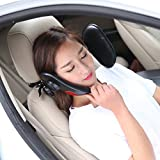 Car Pillows,Neck Pillow, Newly Upgrade Your Car-Universal Premium Leather Luxury Luster| Retractable | Comfortable | Folding | With Bracket | Support On Both Sides Car Seat Headrest Travel Car Sleeping Neck Pillow Cushion