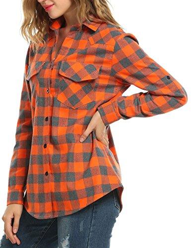 Femme Aceshin Chemisier Chemisier Aceshin Orange Aceshin Femme Chemisier Orange Femme 7T7Orw8