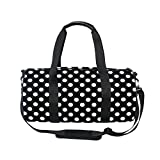 Cooper girl Black White Polka Dot Duffels Bag Travel Sport Gym Bag Review