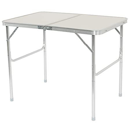 Z ZTDM Multipurpose Folding Camping Table with Carry Handle,Portable Utility Aluminium Table for Party Picnic Tailgating Outdoor Indoor 36 x24 x28