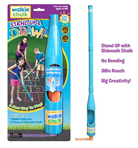 - Walkie Chalk Stand up Sidewalk Chalk Holder, Teal