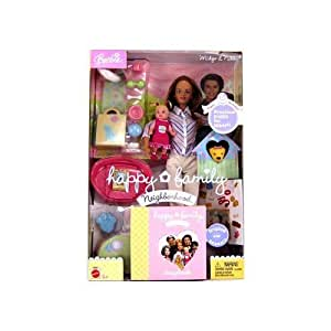 Mattel Barbie Nikki Happy Family Box Doll New (this toy is for age of 5 and up only)