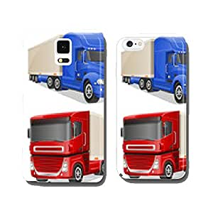 big blue and red trucks vector illustration cell phone cover case iPhone6