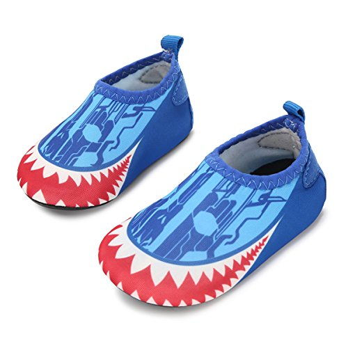 JIASUQI Fashion Outdoor Sports Water Aqua Skin Water Shoes Casual Beach Sandals for Baby Red Blue 12-18 Months