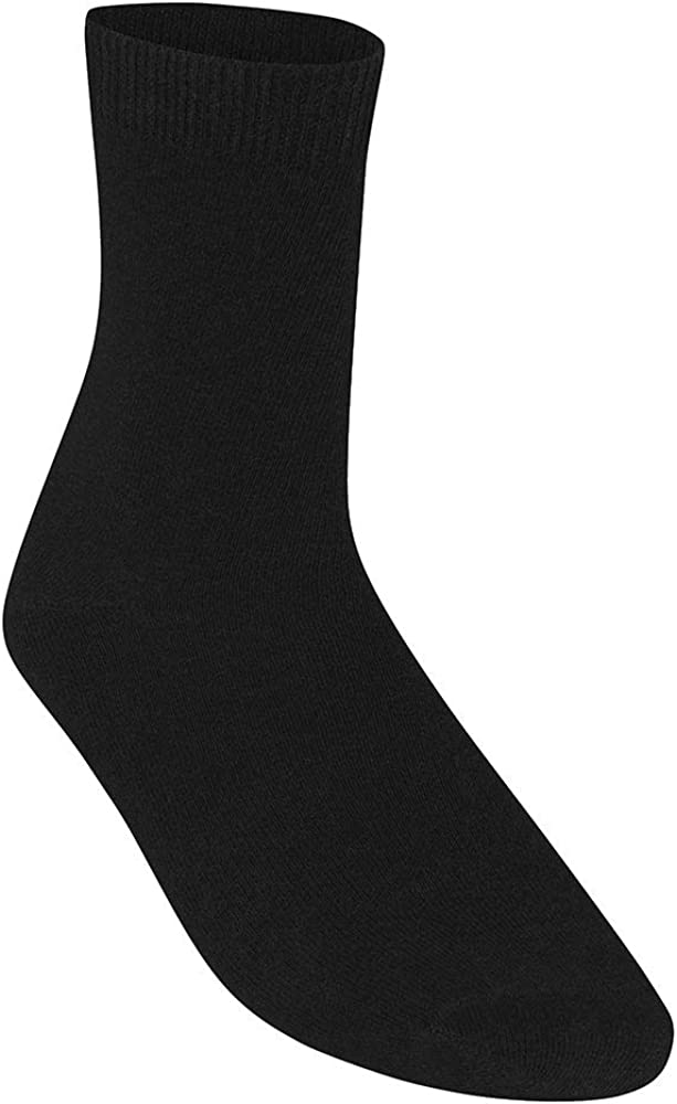 Ozmoint High Quality School Uniform Girls Boys Smooth knit Ankle Socks 5 Pairs per Pack Cotton Rich Socks with Lycra for Stretch