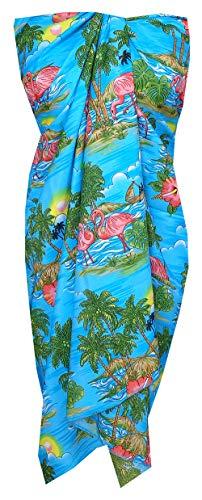 (Alvish Sarong 48 Women Scenic Flamingo Beach Swimsuit One Size Pareo Sky)