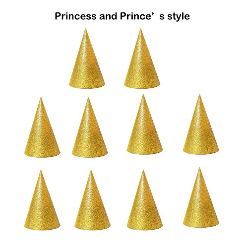 12 pieces the cute golden 1st birthday,tea,graduation,princess,prince,fairy,wedding,bridal,pool,pets,pokemon,party hats for women,men, kids, adults, dogs, cats, (Easy Diy Costumes Men)