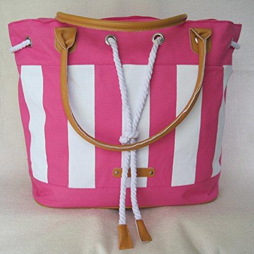 H D x Stripe 52cm W Pink BAG 18cm BEACH x 37cm qREFwB