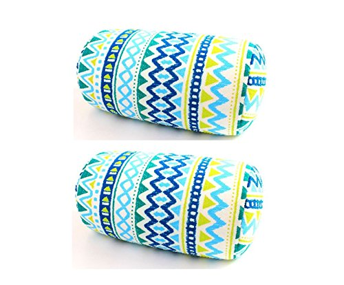 Bookishbunny 2pcs Micro Bead Roll Pillow Cushion for Bed Back Neck Head Support, 12