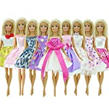 Phantomx 5 Fashion Handmade Mini Dress Wedding Party Skirt Lady Clothes For Barbie Doll