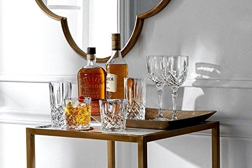 James Scott Double Old Fashioned Crystal Drinking Glasses Set, Irish Cut Design - Set of 4 - 8 Oz by James Scott (Image #1)