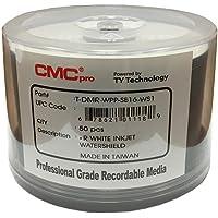 CMC Pro - Powered byTY Technology Watershield Glossy White Inkjet Hub 16X DVD-R - 50-Pack