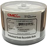 CMC Pro - Powered byTY Technology Watershield Glossy White Inkjet Hub 16X DVD-R - 50-Pack