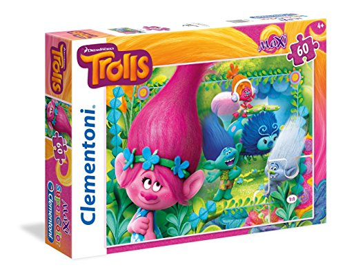 Clementoni ''Trolls -You're Invited To This Party'' Maxi Puzzle (60 Piece) by Clementoni