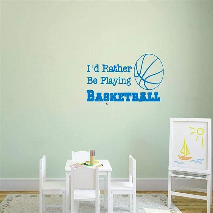 Calcomanía de pared de baloncesto Cita Prefiero estar jugando ...