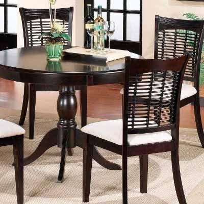 Hillsdale Furniture Bayberry Dining 5 Piece Round Dining Set (Dark Cherry)