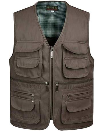 11ddfba9360ca Men's Multi Pocket Vest Jacket Outdoor Fishing Camping Waistcoat Traveling  Photography Hiking Gilet