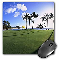 3drose Llc 8 X 8 X 0.25 Inches Mouse Pad, Kaluakoi Golf Course Molokai Hawaii Douglas Peebles (Mp_89529_1)