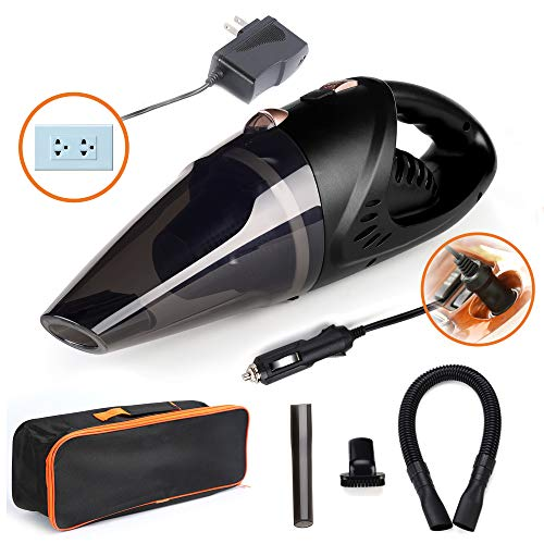 GNG 2003 Handheld Vacuum Cleaner-12v Portable Cordless Vacuum with Car & Wall Rechargeable Lithium-ion-38.5 x 11 x 13cm Bagless Vacuum Cleaners for Wet and Dry Furniture, Carpets, Floors, Vehicles