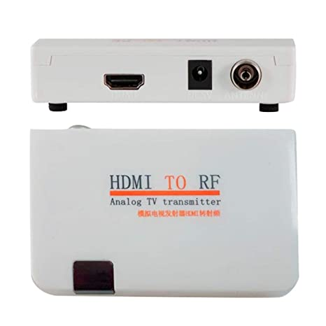 HDMI to Coax RF Converter Modulator for TV - HDMI in Coaxial Out Convertor Adapter Box with Remote Control RF Analog Signal Transmitter Adaptor with Zoom ...